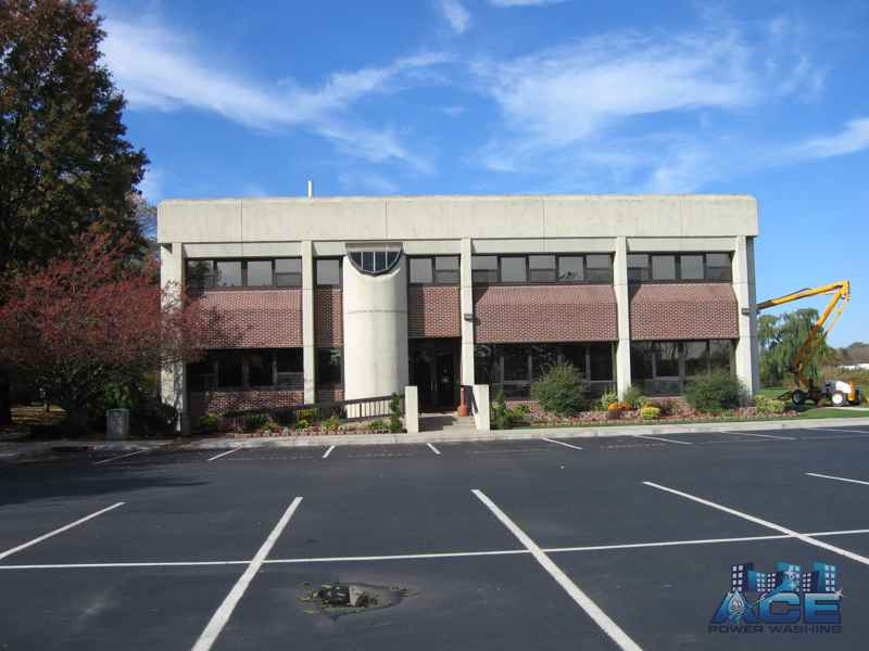 Cleaned building using low pressure washing services in Little Ferry, NJ