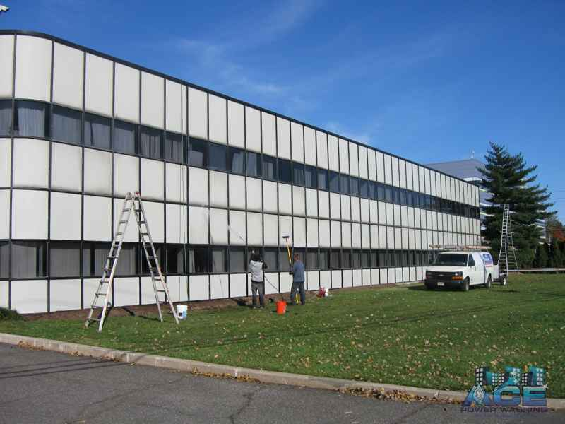 Office building exterior cleaning in Ridgefield Park, NJ