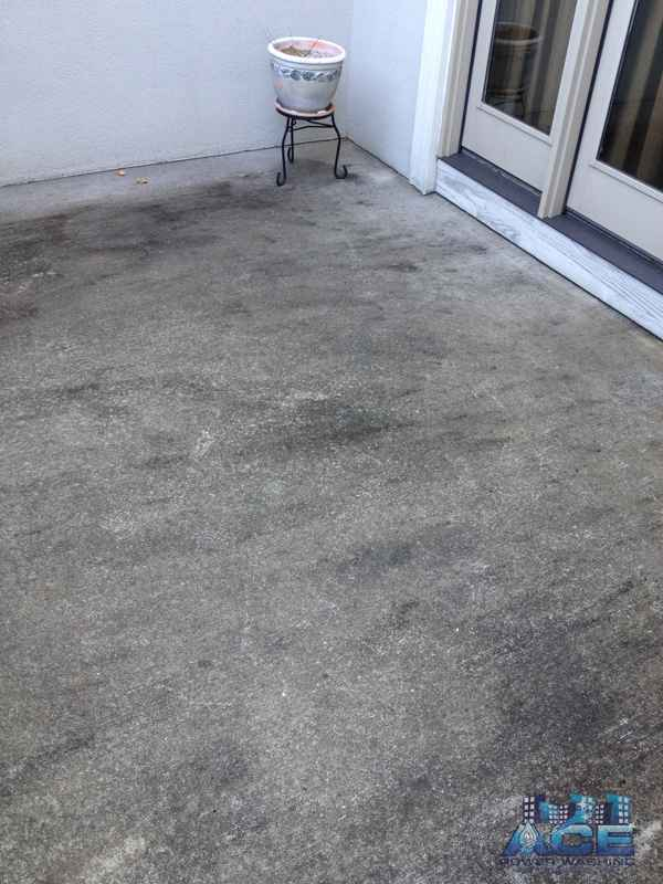Black mold covered concrete cement in Woodcliff Lake, NJ
