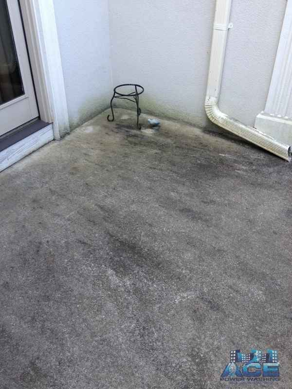 Cleaning black mold from concrete in Woodcliff Lake, NJ