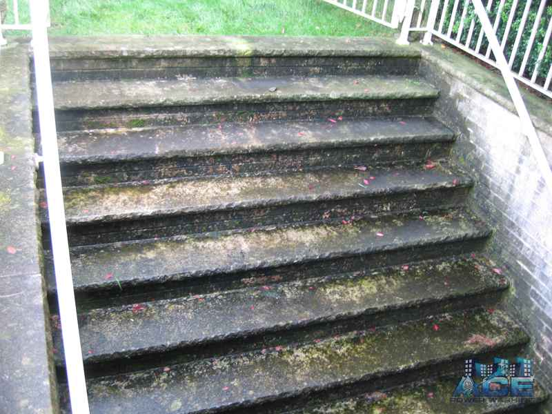 Power Washing concrete steps in Washington Township, NJ