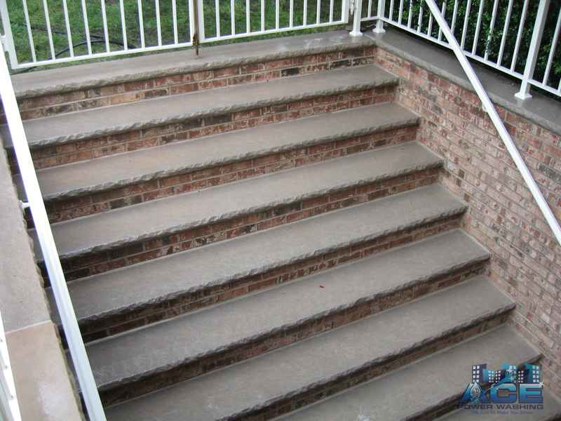 Cleaned concrete steps in Washington Township, NJ