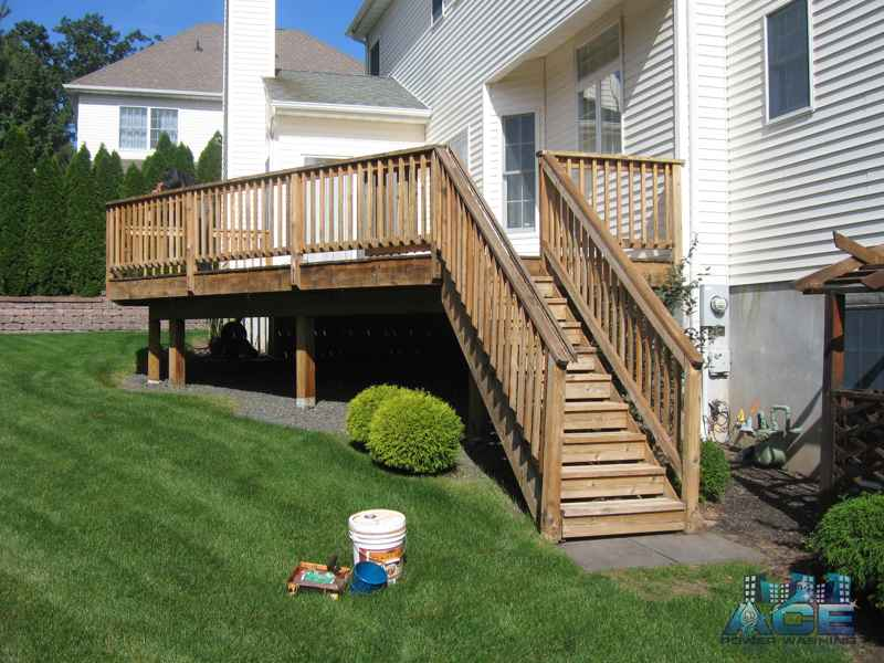 Deck Restoration of Cedar Deck in Hillsdale, NJ