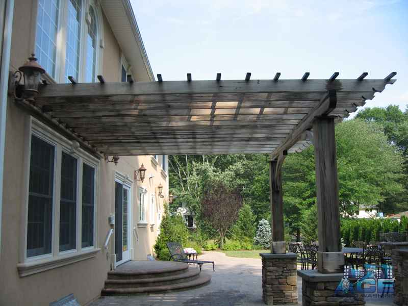 Weathered Ipe Pergola in Park Ridge, NJ