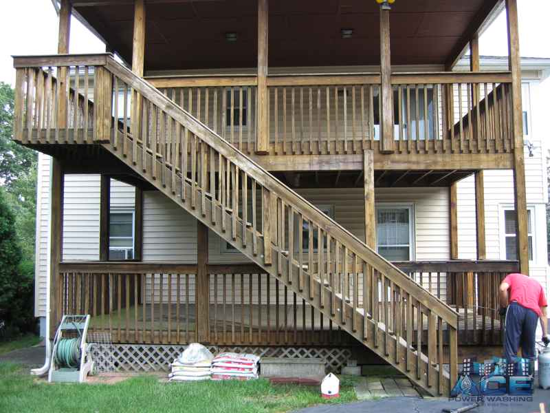 Pressure Treated Deck Ready for Deck Restoration in Monclair, NJ
