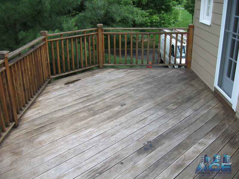 Ipe Deck preparation for Deck Cleaning in Millburn, NJ