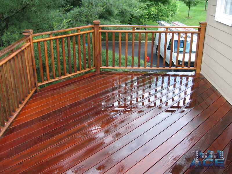 Deck Cleaning of Ipe Deck in Millburn, NJ