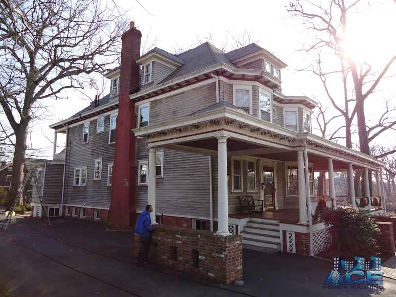 Mold Covered Victorian House in Monclair, NJ