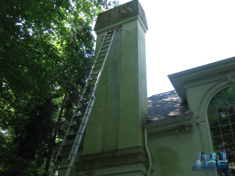 Mold Covered Stucco House in Glen Rock, NJ