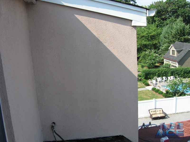 Cleaned Stucco surface using low pressure washing service in Harrington Park, NJ