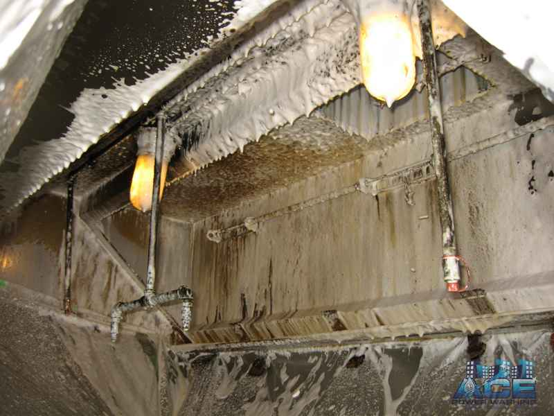 Kitchen Hood getting some deep foaming in Paramus, NJ