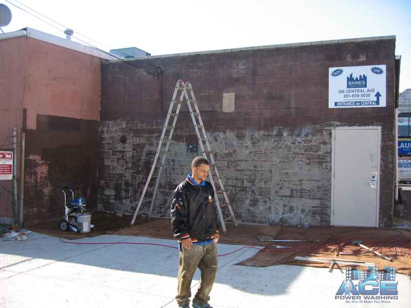 Block Prepping for Exterior Block Painting in North Bergen, NJ