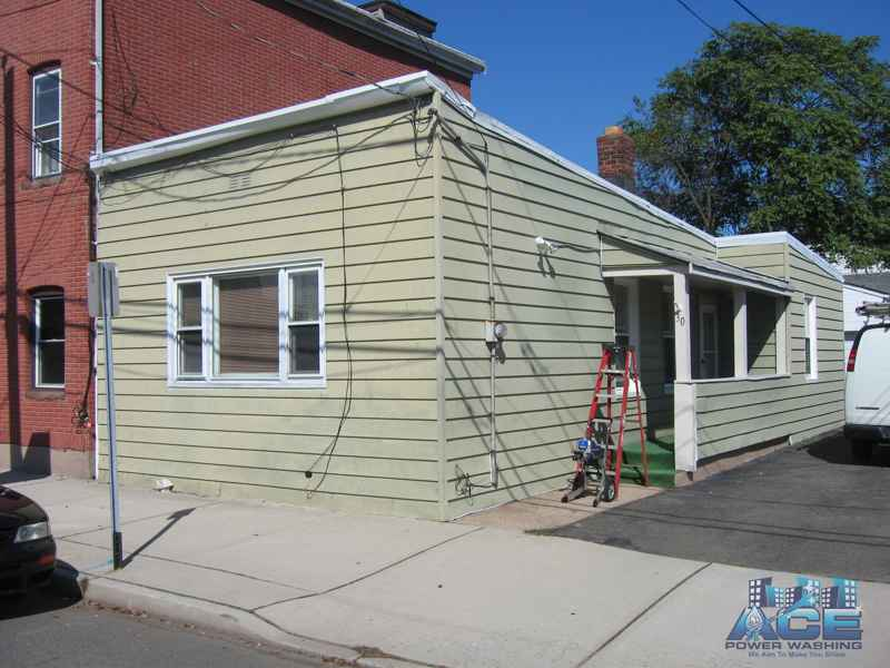 Aluminum Siding on Home ready for painting in Lodi, NJ