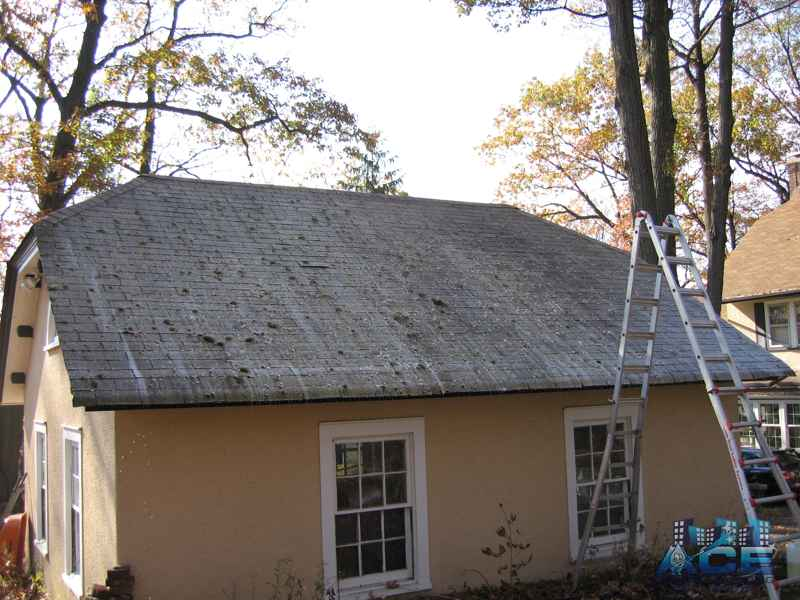 Applying Our Roof Shampoo Detergent in Montclair, NJ