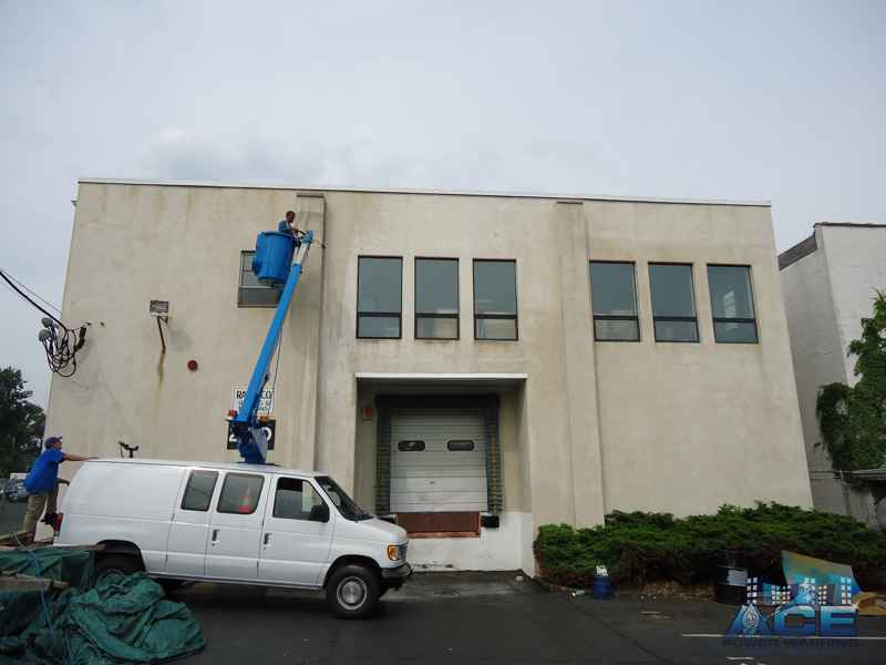 Power Washing Exterior Building in Edison, NJ