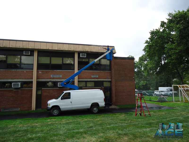 Exterior Cleaning of School using Power Washing Services in Allendale, NJ
