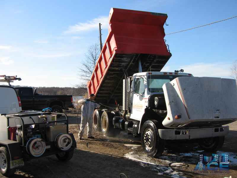 Truck Fleet Washing using Power Washing Services in Newark, NJ