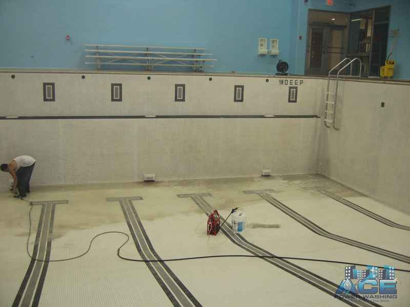 Inside Pool Power Washing Services in West Orange, NJ